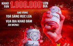 Gửi 1.000.000 lon bia tới Fan hâm mộ, Budweiser ăn mừng kỳ tích Việt Nam lần đầu lọt vòng loại cuối World Cup 2022